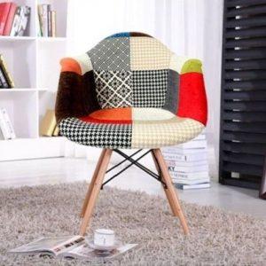 fauteuil scandinave motif